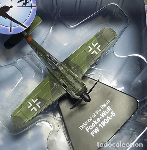 MODELO EN METAL A ESCALA 1:72 DEL FOCKE WULF FW190A-5, *DEFENSA DEL REICH* . ACABADO DE LUJO. NUEVO (Juguetes - Modelismo y Radiocontrol - Maquetas - Militar)