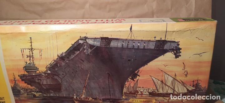 Maquetas: U.s.s. Saratoga Revell H-385. escala 1/570. Año 196x. Nuevo. Sin abrir - Foto 3 - 224927030