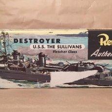 Maquetas: DESTROYER U.S.S. SULLIVANS REVELL H-305 ESCALA 1/300. AÑO 1954. NUEVO SIN ABRIR. Lote 224934883
