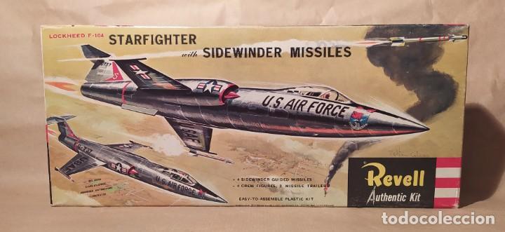LOCKHEED F-104 STARFIGHTER WITH SIDEWINDER MISSILES REVELL H-199. AÑO 1960. NUEVO (Juguetes - Modelismo y Radio Control - Maquetas - Aviones y Helicópteros)