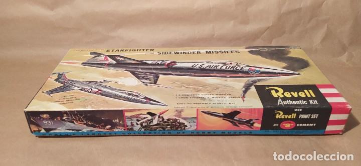 Maquetas: Lockheed f-104 starfighter with sidewinder missiles Revell H-199. Año 1960. Nuevo - Foto 2 - 225049862