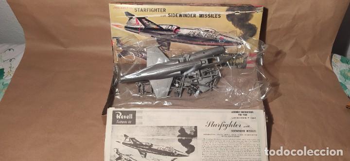 Maquetas: Lockheed f-104 starfighter with sidewinder missiles Revell H-199. Año 1960. Nuevo - Foto 4 - 225049862