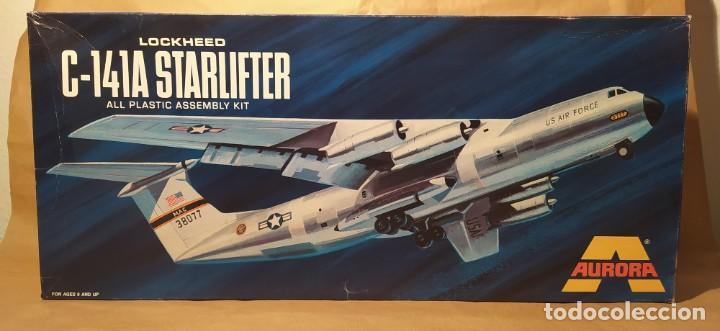 LOCKHEED C-141A STARFIGHTER AURORA 376-250 ESCALA 1/108. AÑO 1972. NUEVO (Juguetes - Modelismo y Radio Control - Maquetas - Aviones y Helicópteros)