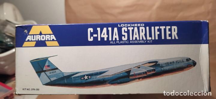 Maquetas: Lockheed C-141a starfighter Aurora 376-250 escala 1/108. Año 1972. Nuevo - Foto 3 - 225059798