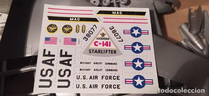 Maquetas: Lockheed C-141a starfighter Aurora 376-250 escala 1/108. Año 1972. Nuevo - Foto 4 - 225059798