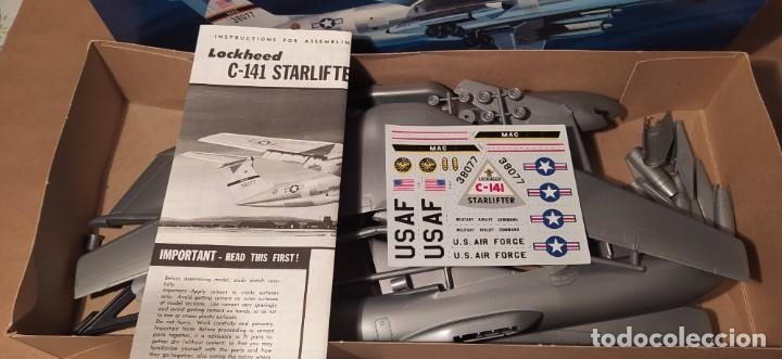 Maquetas: Lockheed C-141a starfighter Aurora 376-250 escala 1/108. Año 1972. Nuevo - Foto 5 - 225059798