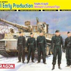 Maquetas: TIGER-I EARLY PRODUCTION PZ.KPFW.VI,AUSF.E WITTMANN'S COMMAND TIGER 1/35 DRAGON. Lote 225205360