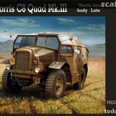 "Maquettes: BRITISH MORRIS C8 QUAD MK.III ""BEETLE BACK"" BODY LATE 1/35 MIRROR. Lote 225216320"