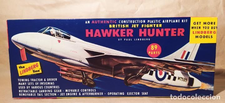 BRITISH JET FIGHTER HAWKER HUNTER ESCALA 1/48 BY PAUL LINDBERG. 1957. NUEVA (Juguetes - Modelismo y Radio Control - Maquetas - Aviones y Helicópteros)