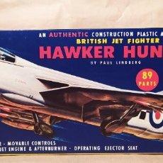 Maquetas: BRITISH JET FIGHTER HAWKER HUNTER ESCALA 1/48 BY PAUL LINDBERG. 1957. NUEVA. Lote 225383617