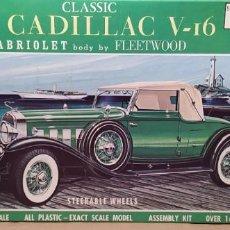 Maquetas: 1931 CADILLAC V16 CABRIOLET GOLD CUP SERIES JO-HAN 1/25.NUEVO. Lote 225397560