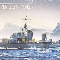 Maquetas: MAQUETA DEL DESTRUCTOR ALEMÁN 2ª GUERRA MUNDIAL Z 31 (V. 1942) DE HELLER A ESCALA 1/400. Lote 225592767