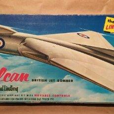 Maquetas: AVRO VULCAN BRITISH JET BOMBER LINDBERG 537-149 ESCALA 1/96. AÑO 1959. NUEVO. Lote 225641440