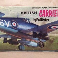 Maquetas: BRITISH CARRIER FIGHTER LINDBERG 558-98 ESCALA 1/48. AÑO 1959. NUEVO. Lote 225642867