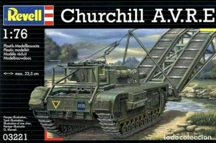 03221 REVELL 1/76 CHURCHILL A.V.R.E., ( PUENTE ). SEALED / PRECINTANDO (Juguetes - Modelismo y Radiocontrol - Maquetas - Militar)