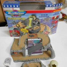 Maquettes: ANTIGUO BASE SUMINISTRO MILITAR MICRO MACHINES MICRO ARMY EN SU CAJA PARA DIORAMA O SIMILAR. Lote 226573845