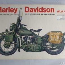 Maquetas: ANTIGUA MAQUETA HARLEY DAVIDSON WLA 45 MILITAR. Lote 227214935