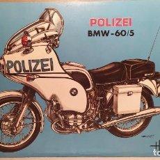 Maquetas: BMW 60/5 POLIZEI HELLER L 989 ESCALA 1/8. NUEVA, BOLSAS PRECINTADAS. Lote 227639450