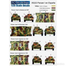 Macchiette: CALCAS PANZER I EN ESPAÑA FC-MODELTIPS FCM35222 1:35. Lote 228371180