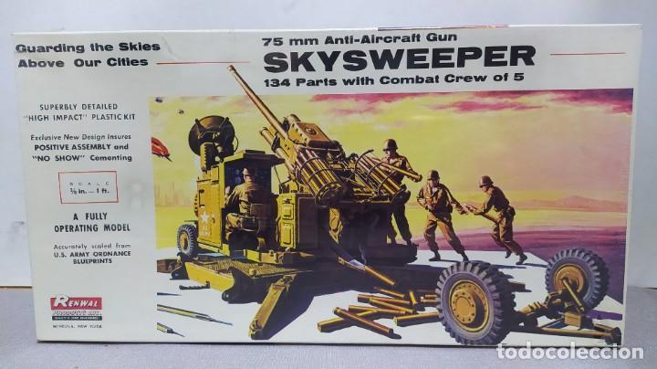 75 MM ANTI-AIRCRAFT GUN SKYSWEEPER RENWAL. NUEVO, CAJA PRECINTADA (Juguetes - Modelismo y Radiocontrol - Maquetas - Militar)