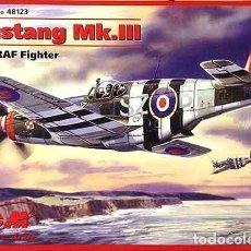 Maquetas: MAQUETA DEL CAZA NORTH AMERICAN P-51C MUSTANG MK.III (USADO POR LA RAF) DE ICM A ESCALA 1/48. Lote 229041710