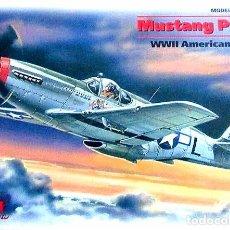Maquetas: MAQUETA DEL CAZA NORTH AMERICAN P-51C MUSTANG DE ICM A ESCALA 1/48. Lote 229042020