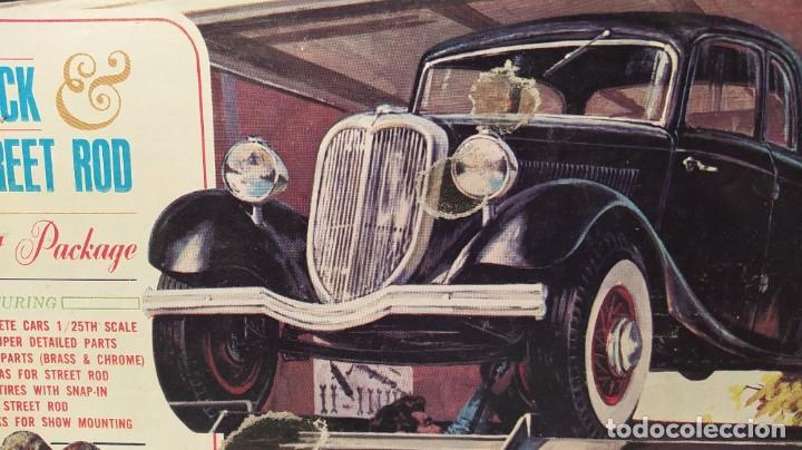 Maquetas: 34 Ford stock street rod 1/25 Aurora. 2 model in 1. Año 1963 . Nuevo sin montar. Completo - Foto 3 - 229239590