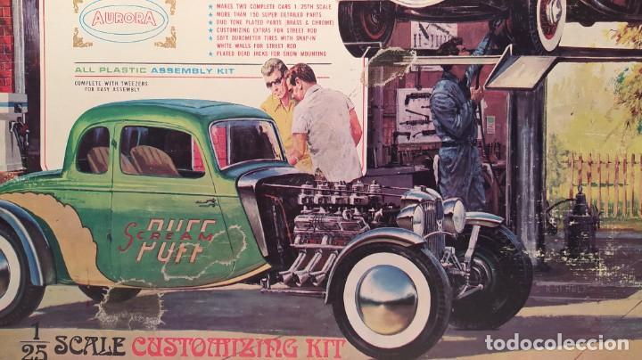 Maquetas: 34 Ford stock street rod 1/25 Aurora. 2 model in 1. Año 1963 . Nuevo sin montar. Completo - Foto 4 - 229239590