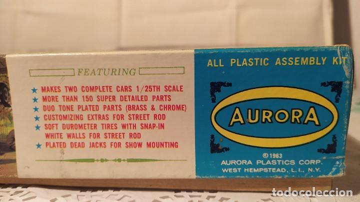 Maquetas: 34 Ford stock street rod 1/25 Aurora. 2 model in 1. Año 1963 . Nuevo sin montar. Completo - Foto 5 - 229239590