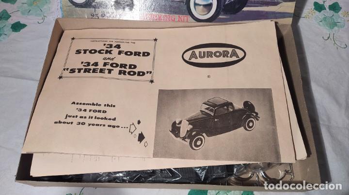 Maquetas: 34 Ford stock street rod 1/25 Aurora. 2 model in 1. Año 1963 . Nuevo sin montar. Completo - Foto 6 - 229239590