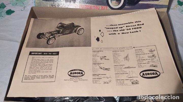 Maquetas: 34 Ford stock street rod 1/25 Aurora. 2 model in 1. Año 1963 . Nuevo sin montar. Completo - Foto 7 - 229239590