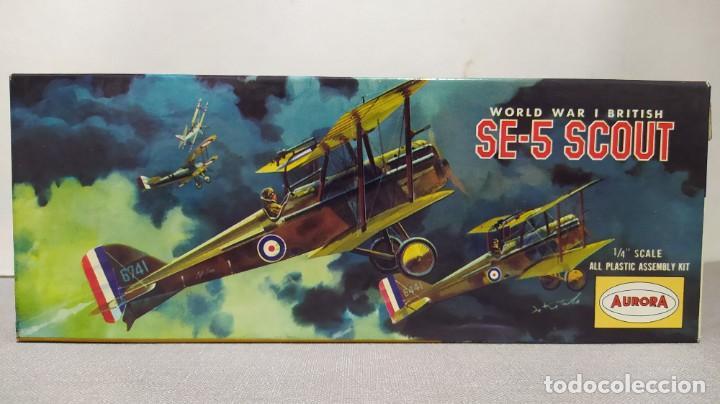 WORLD WAR I BRITISH SE-5 SCOUT AURORA. AÑO 1963. NUEVO (Juguetes - Modelismo y Radio Control - Maquetas - Aviones y Helicópteros)
