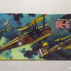 Maquetas: WORLD WAR I BRITISH SE-5 SCOUT AURORA. AÑO 1963. NUEVO. Lote 229338225