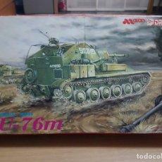 Macchiette: MAQUETA 1/35 SU-76M WWII -DRAGON. Lote 229437040