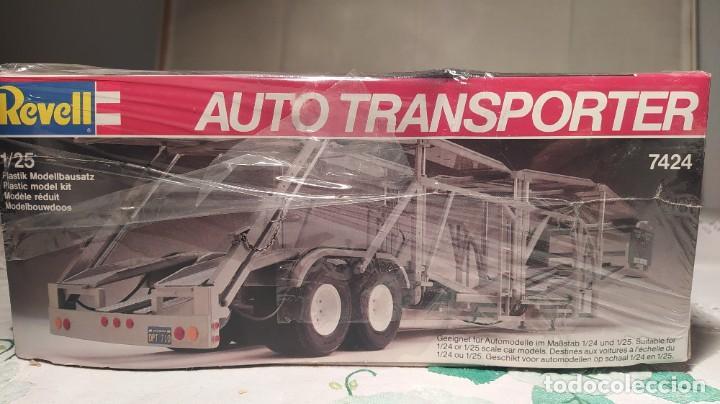 Maquetas: Auto transporter 1/25 Revell 7537. Nuevo, año 1983. - Foto 2 - 289416673