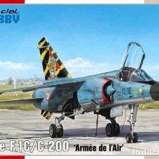 Maquetas: MAQUETA DEL CAZA DASSAULT BREGUET MIRAGE F.1C/C-200 DE SPECIAL HOBBY A 1/72. Lote 229600560