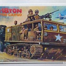 Maquetas: NITTO KAGAKU 1/35 SCALE WWII U.S. ARMY M4 18 TON HIGH SPEED CARGO TRACTOR. NUEVO. Lote 230046290
