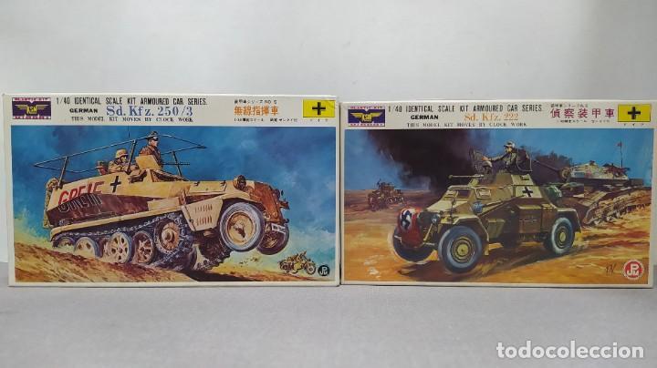 2 VEHÍCULOS GERMAN SD.KFZ 250/3 Y SD.KFZ. 222 1/40 DE KSN. NUEVOS (Juguetes - Modelismo y Radiocontrol - Maquetas - Militar)