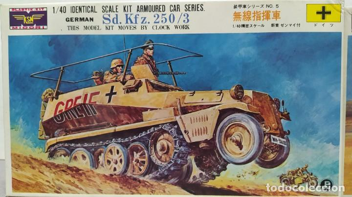 Maquetas: 2 vehículos german Sd.kfz 250/3 y Sd.kfz. 222 1/40 de ksn. Nuevos - Foto 2 - 230048490