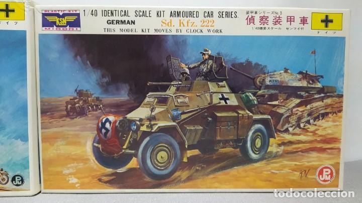 Maquetas: 2 vehículos german Sd.kfz 250/3 y Sd.kfz. 222 1/40 de ksn. Nuevos - Foto 3 - 230048490
