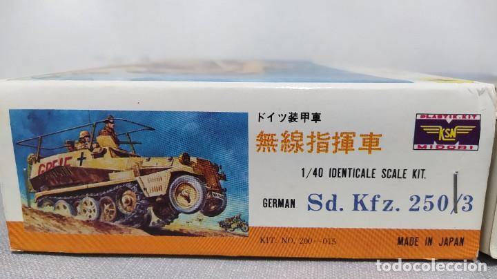 Maquetas: 2 vehículos german Sd.kfz 250/3 y Sd.kfz. 222 1/40 de ksn. Nuevos - Foto 4 - 230048490