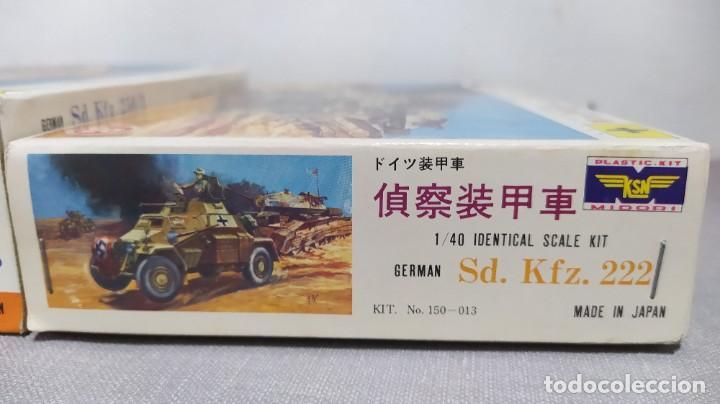Maquetas: 2 vehículos german Sd.kfz 250/3 y Sd.kfz. 222 1/40 de ksn. Nuevos - Foto 5 - 230048490