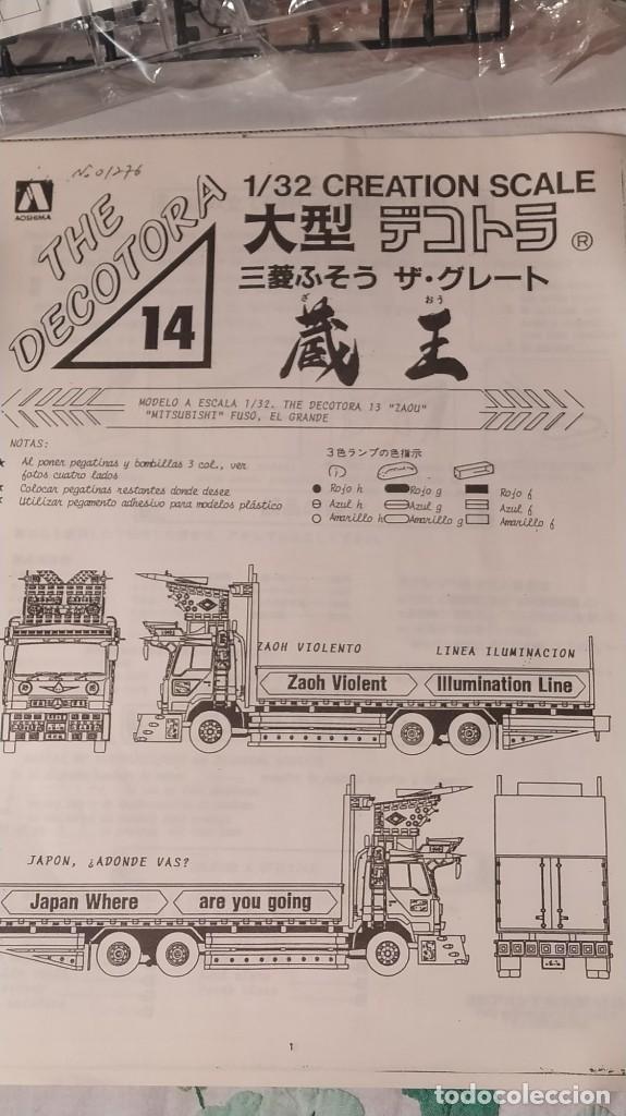 Maquetas: Mitsubishi fuso The decotora 13 zaoh 1/32 aoshima. Nuevo - Foto 6 - 230444550