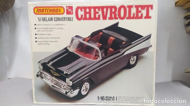 1957 CHEVROLET BEL-AIR CONVERTIBLE 1/18 MATCHBOX AMT. NUEVO, BOLSAS SIN ABRIR. (Juguetes - Modelismo y Radiocontrol - Maquetas - Coches y Motos)