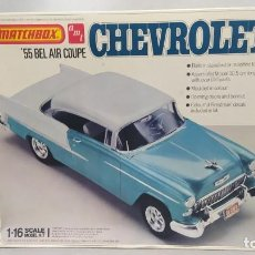 Maquetas: 1955 CHEVROLET BEL-AIR COUPE 1/18 MATCHBOX AMT. NUEVO, BOLSAS SIN ABRIR.. Lote 277453243