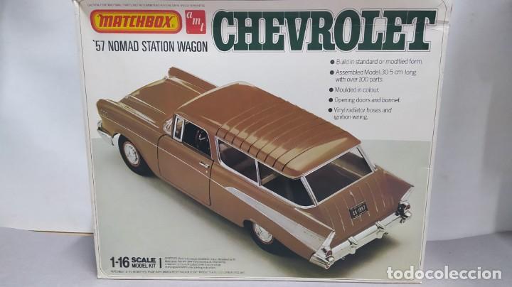 1957 CHEVROLET NOMAD STATION WAGON 1/18 MATCHBOX AMT. NUEVO, BOLSAS SIN ABRIR. (Juguetes - Modelismo y Radiocontrol - Maquetas - Coches y Motos)