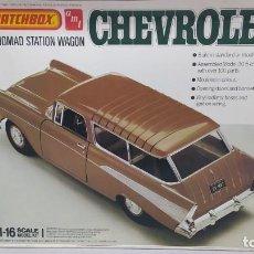 Maquetas: 1957 CHEVROLET NOMAD STATION WAGON 1/18 MATCHBOX AMT. NUEVO, BOLSAS SIN ABRIR.. Lote 277453878