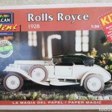 Maquetas: ROLLS ROYCE , 1928 - ESCALA 1: 24 - ALCAN~MINI - MAQUETA PAPEL, SCALA MODEL - - PJRB. Lote 231735875