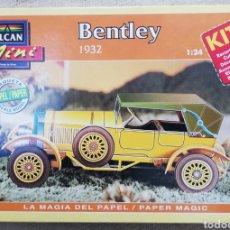 Maquetas: BENTLEY , 1932 - ESCALA 1: 24 - ALCAN~MINI - MAQUETA PAPEL, SCALA MODEL - - PJRB. Lote 231736805
