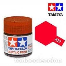 Maquettes: TAMIYA - X27 ROJO TRANSPARENTE. Lote 231823500